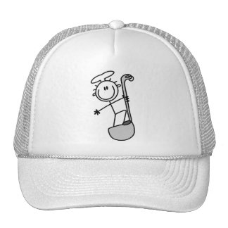 Stick Figure Chef with Ladle Trucker Hat