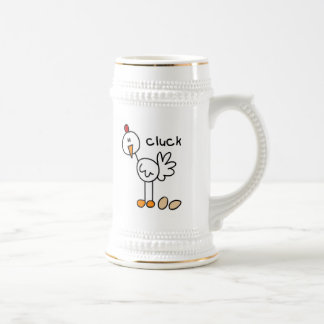 Stick Figure Chicken T-shirts and Gifts Beer Stein
