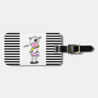 Stick Figure Cow T-shirts and GIfts Luggage Tag