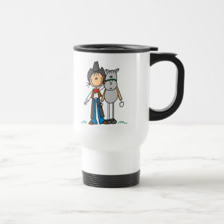 Stick Figure Cowgirl with Horse Mug