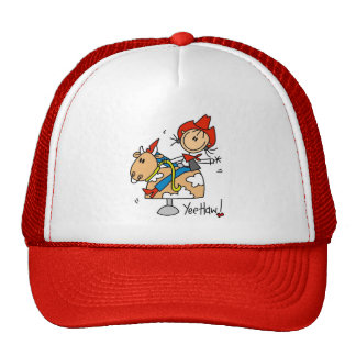 Stick Figure Cowgirl Yee Haw T-shirts and Gifts Trucker Hat