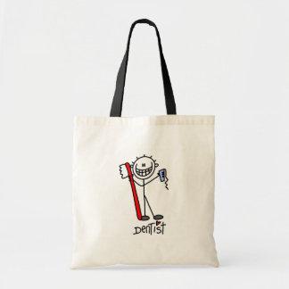 Stick Figure Dentist Tote Bag
