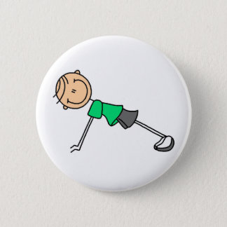 Stick Figure Exercising Button