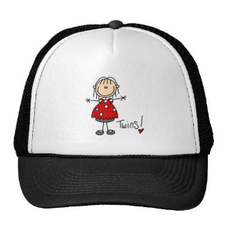 Stick Figure Expecting Twins Trucker Hat