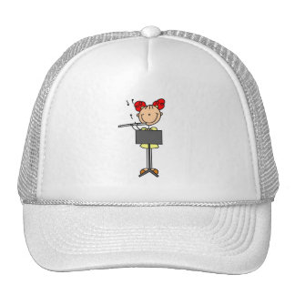 Stick Figure Flute Hat