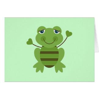 Stick Figure Frog Card