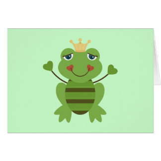 Stick Figure Frog Prince Card