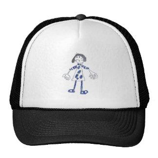 Stick Figure Girl Asks for Hug Trucker Hat