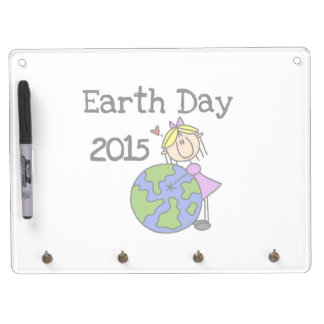 Stick Figure Girl Earth Day 2015 Dry-Erase Boards