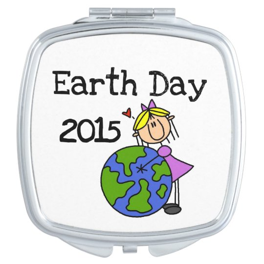 Stick Figure Girl Earth Day 2015 Travel Mirrors