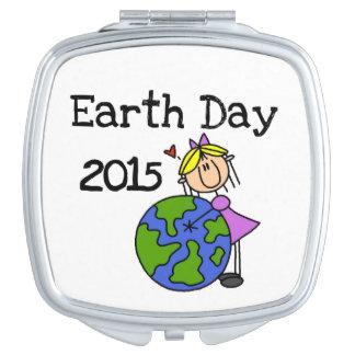 Stick Figure Girl Earth Day 2015 Vanity Mirror