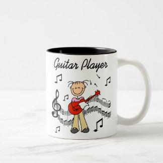 Stick Figure Girl Guitar Player T-shirts and Gifts Mugs