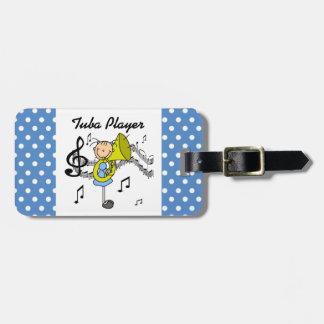 Stick Figure Girl Tuba Player T-shirts and GIfts Luggage Tag