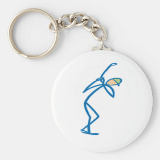 Stick figure golfer T-shirts and Gifts. Basic Round Button Keychain