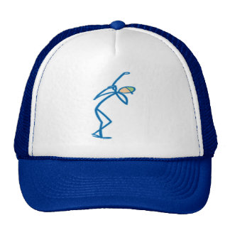 Stick figure golfer T-shirts and Gifts. Trucker Hat