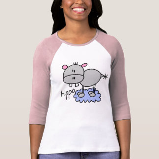 Stick Figure Hippo T-Shirt