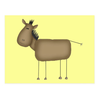 Stick Figure Horse Tshirts and Gifts Postcard
