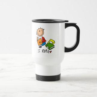 Stick Figure I Read Reading Travel Mug/Cup Travel Mug