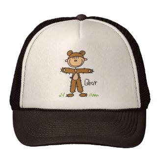 Stick Figure In Bear Suit Hat