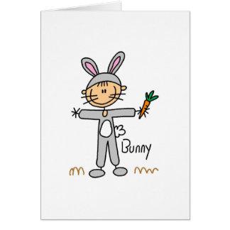 Stick Figure In Bunny Suit Card