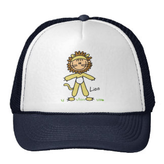 Stick Figure In Lion Suit Hat