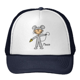 Stick Figure In Mouse Suit Hat
