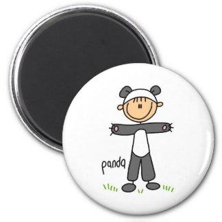 Stick Figure In Panda Suit Magnet