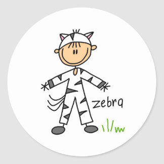 Stick Figure In Zebra Suit Sticker