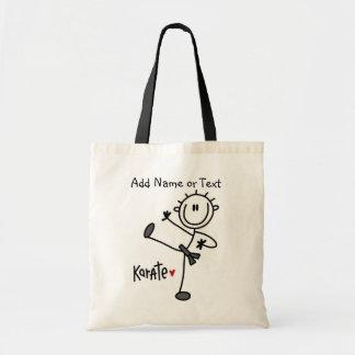Stick Figure Karate Customized Bag
