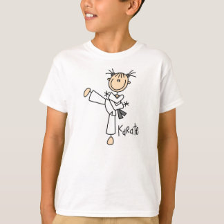 Stick Figure Karate Girl T-shirt