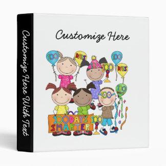 Stick Figure Kids 100 Days Smarter 3 Ring Binder