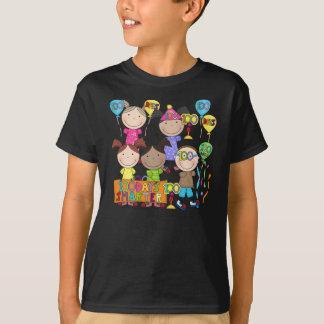 Stick Figure Kids 100 Days Smarter Shirts