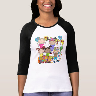 Stick Figure Kids 100 Days Smarter T-Shirt