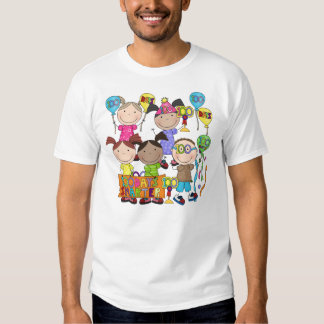Stick Figure Kids 100 Days Smarter T Shirts