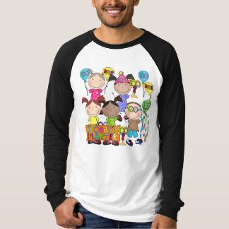 Stick Figure Kids 100 Days Smarter T-shirts