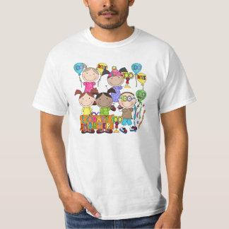 Stick Figure Kids 100 Days Smarter Tshirt