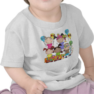 Stick Figure Kids 100 Days Smarter Tshirts