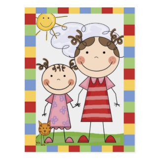Stick Figure Kids Cards and Gifts