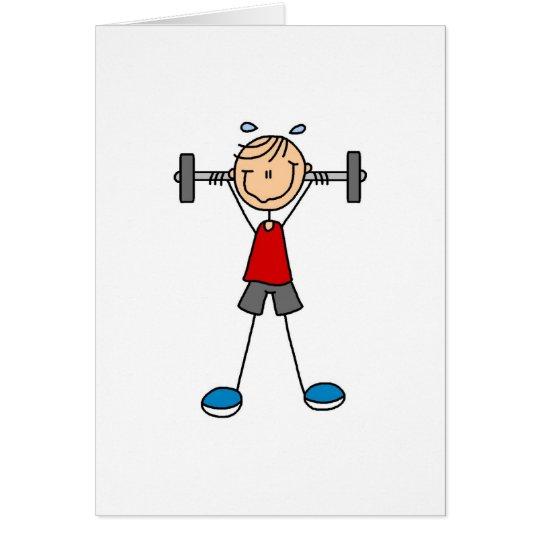 Stick Figure Lifting Card