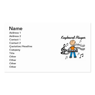 Stick Figure Male Keyboard Player Gifts Business Card Templates