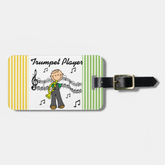 Stick Figure Male Trumpet Player T-shirts and GIft Luggage Tag