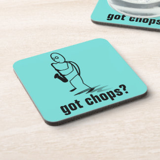 Stick Figure Man Saxophone Player Got Chops? Beverage Coasters