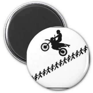 STICK FIGURE MOTOCROSS MAGNET