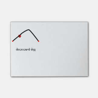 Stick figure of downward dog yoga pose Sanskrit Post-it Notes