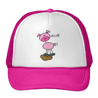 Stick Figure Pig T-shirts and Gifts Trucker Hat