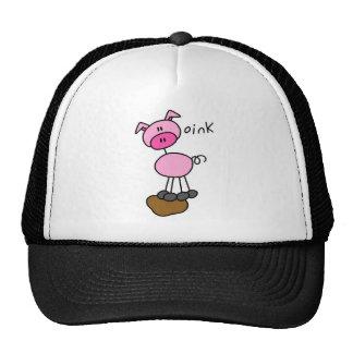Stick Figure Pig Trucker Hat