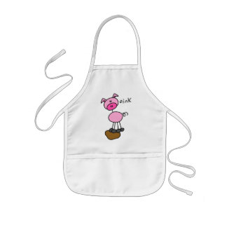 Stick Figure Pig Tshirts and Gifts Kids Apron