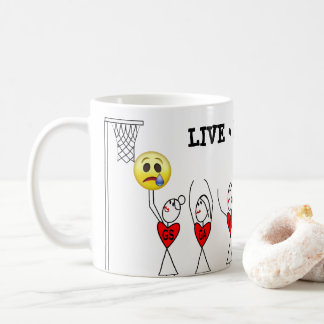 Stick Figure Players Funny Netball Coffee Mug