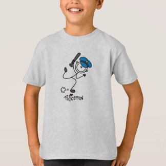 Stick Figure Police Officer T-shirts
