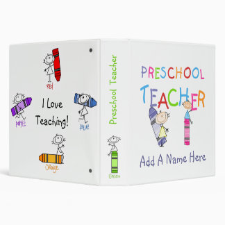 Stick Figure Preschool Teacher Binder